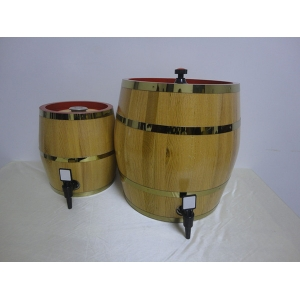 304 stainless steel inner barrel with pine or oak wood barrel surface