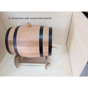 American oak wood 5L wine barrel