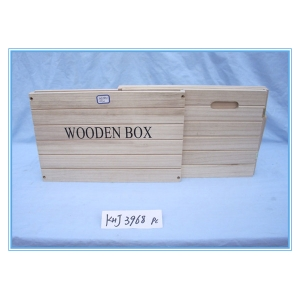 Attractive Style Flat Folding Wood Gift Box