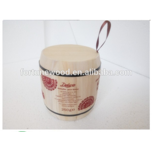 Cacao bean wood mini keg for packaging