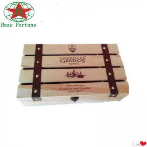 China handmade pine/paulownia wood wine boxes for sale