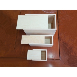 Gift packing wood slid lid box customized size