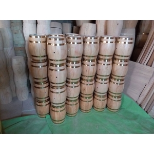 Low cost high profit Christmas decoration mini wood barrel wholesale