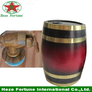 Mass stock 1.5L pine wooden barrel with food grade bag