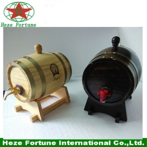 Mini wooden barrel for home decoration
