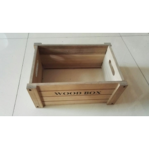Natrual paulownia wood folding wooden box crates China made
