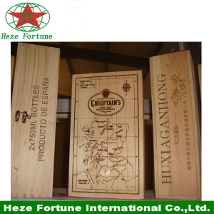 Paulownia material wooden wine box for wine packaging