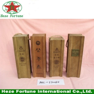 Paulownia wine box with rope handle for sale