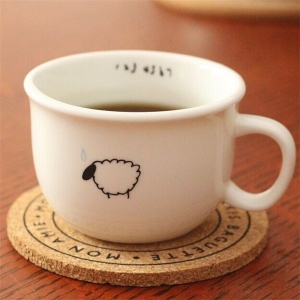 Simple design wood coaster for tea cup