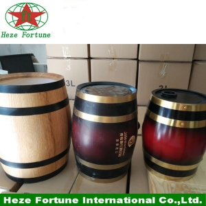 Stock oak wooden wine barrel for sale