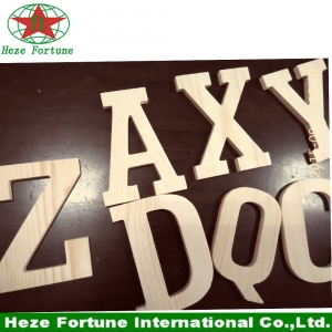 Unfinished eco friendly paulownia wooden letters
