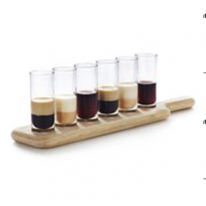 Widely use in pub shot glass wooden tray