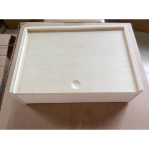 cheapest price plywood gift box with sliding lid