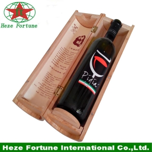 round tube single bottle wine gift wooden box