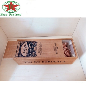 single bottle wooden wine packing box wholesale