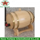 China 100% handmade pine wooden wine barrel for home decoration factory