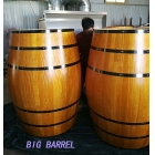 China 225L decorative pine wood whisky barrel table factory