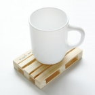 China Customizes size and material wooden coaster holder wood cup mat for tea and coffee factory