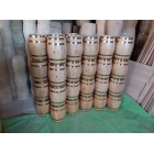 China Low cost high profit Christmas decoration mini wood barrel wholesale factory