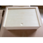China cheapest price plywood gift box with sliding lid factory