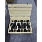 China slat pine wood 6 wine bottle box with custom logo factory