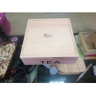 China wholesale Custom color solid wooden tea box with compartment factory