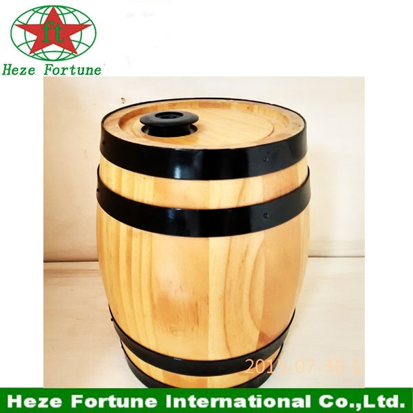 225L big wooden material decoration barrel