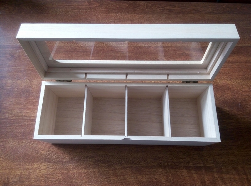 wooden box with clear lid