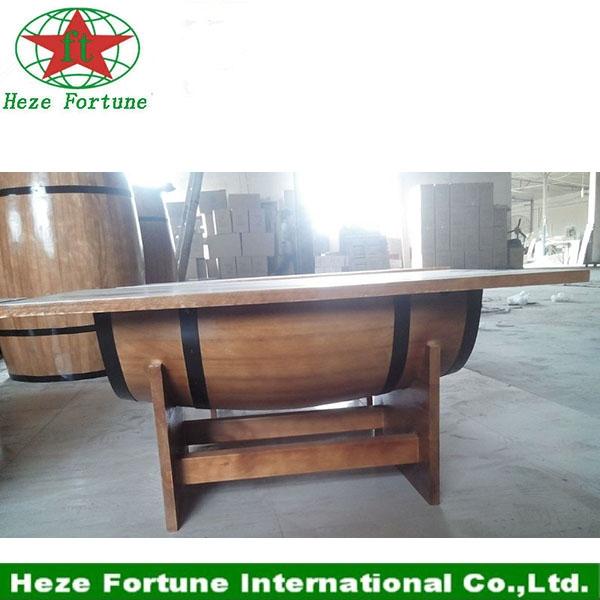 furniture paulownia wood barrel bar table