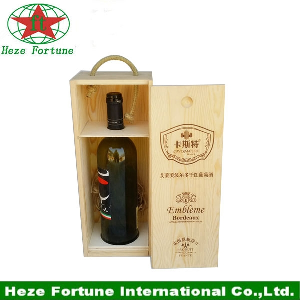 round tube single bottle wine gift wooden box